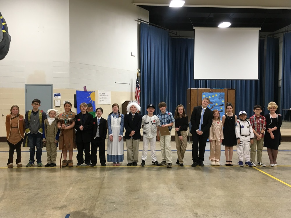 ​JBE Gifted & Talented creates a Living Wax Museum