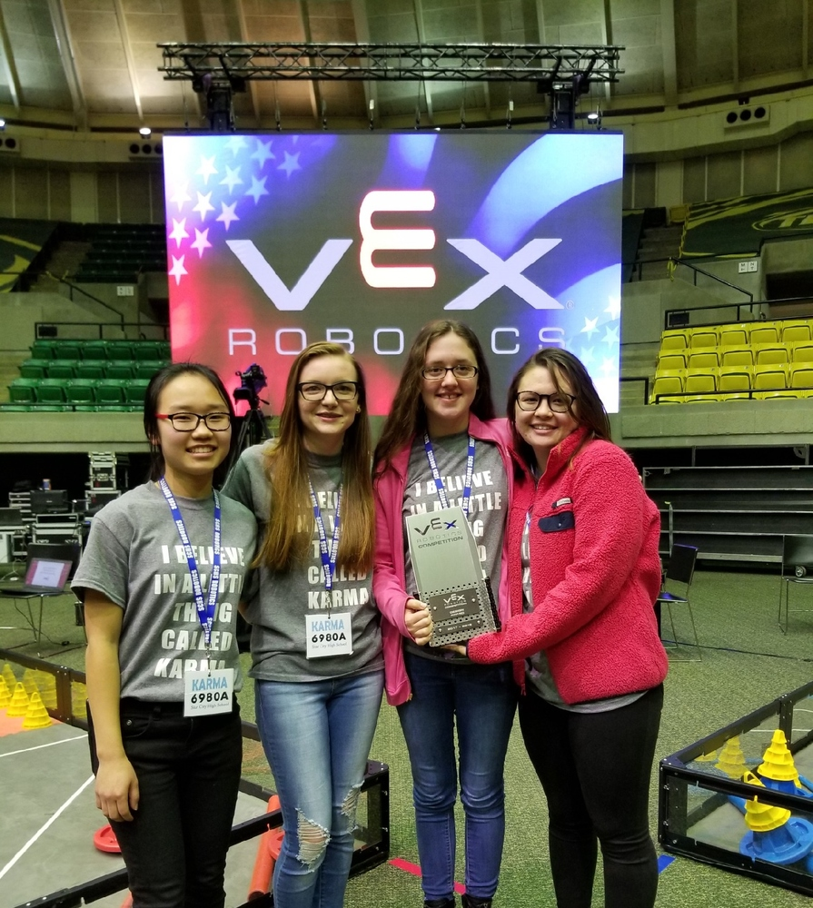 SCHS Girls Robotics Team 'KARMA' to compete in VEX World Robotics Competition in Louisville, Kentucky in April