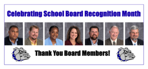 SCHOOL BOARD RECOGNIZED FOR SERVICE IN JANUARY