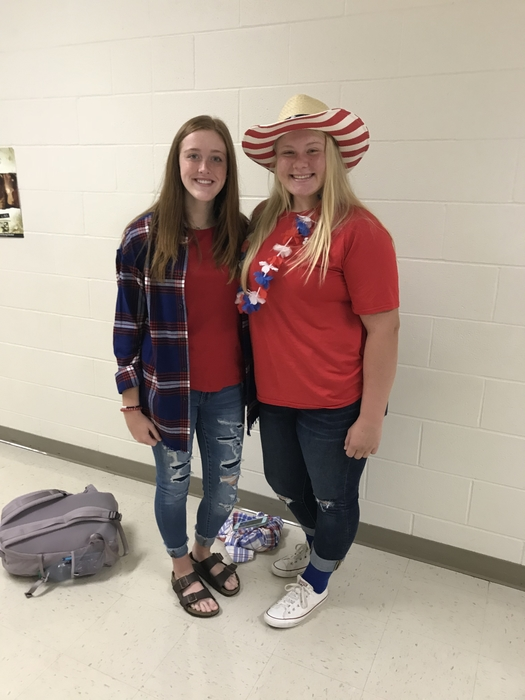 Showing their Bulldog spirit on Red, White, and Blue Day!  @energybusschool #Bulldogs #2ms