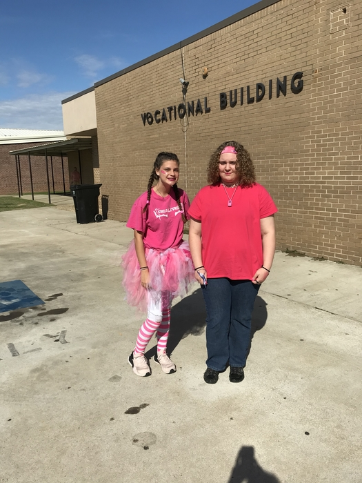 Bulldogs wear pink.  @energybusschool #2ms