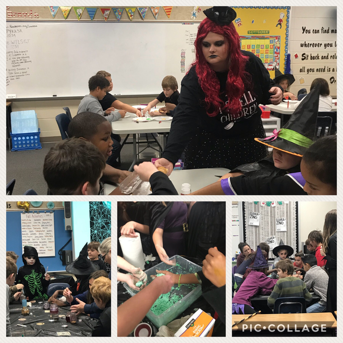Mrs. Braydn, melting witch dough, potion making.