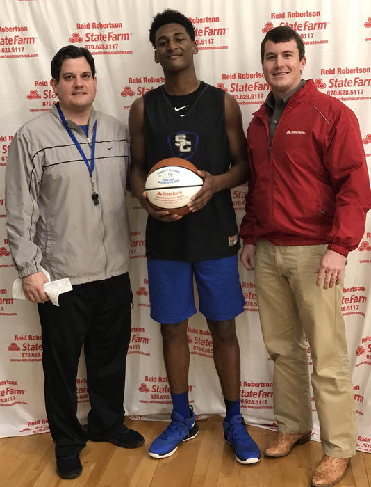 Congrats to JuJuan Jackson for being selected as State Farm Player Of The Week! JuJuan has helped us to a 10-4 record and is averaging 6 ppg 6 rpg 1.7 blocks per game and 3 off rebounds per game!! #FASTER