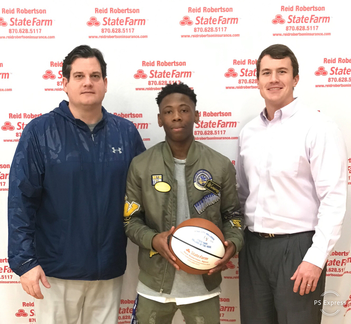 Congrats to Dee Williams for being selected as State Farm Player Of The Week! Dee had 31pts in our home game against Monticello and Was 5-9 from the 3 pt line. Dee also had 4 assist and 4 rebounds !! #FASTER
