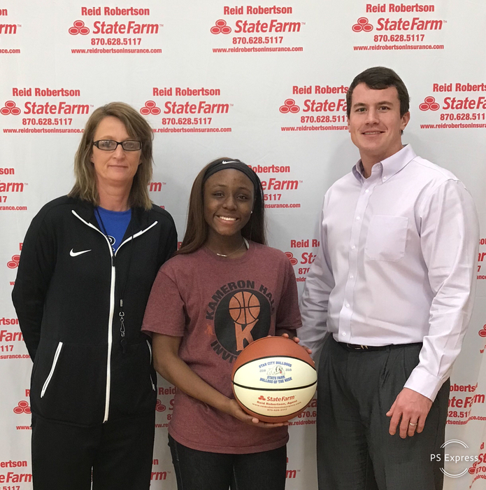 Congratulations to Janiya Johnson for being selected player of the week for the Lady Dogs as she led the team past Monticello with 17 pts 9 RBs 5 assist and 4 steals!!