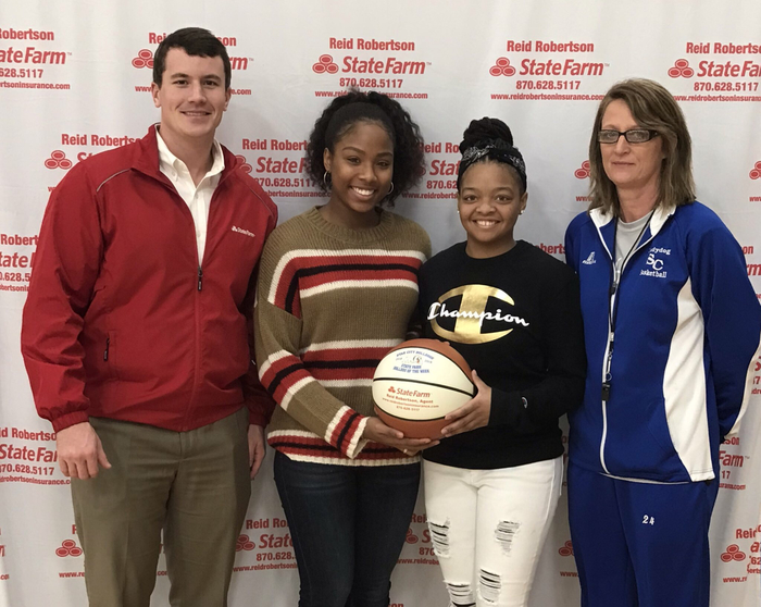 Congratulations to Breanna Grayson and Kyaira Jackson for being selected State Farm players of the week for the Lady Dogs! Breanna had 13 pts 9 rbs and 2 steals. Kyaira had 12 pts 6 rbs and 3 steals in a road win against Magnolia!!