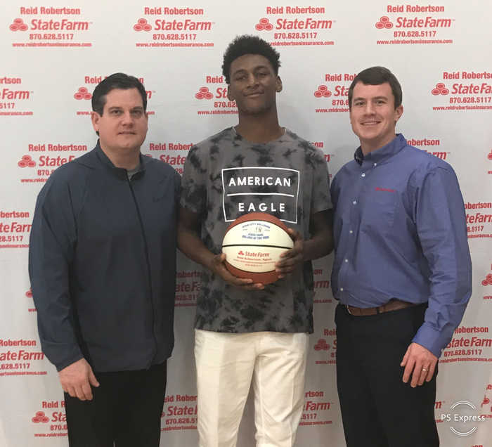 Congrats to JuJuan Jackson for being selected as State Farm Player Of The Week! Jujuan had 15 pts in our road game against Camden. JuJuan also had 6 rebounds and was 6-8 from the field !! #FASTER