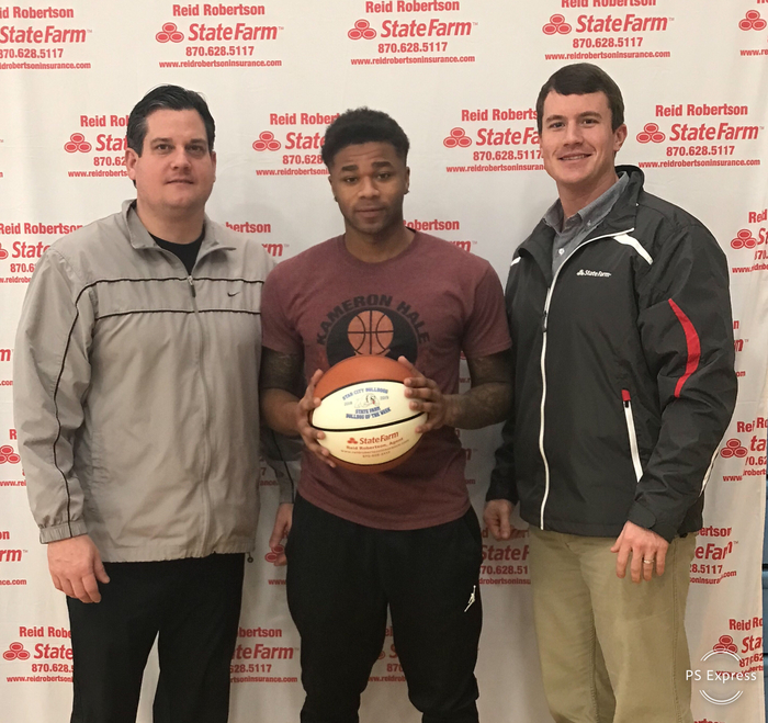 Congrats to Earl Ervin for being selected as State Farm Player Of The Week! Earl had 11 pts in our home win against Hamburg. Earl also had 5 rebounds 2 blocks and 1 steal!! #FASTER