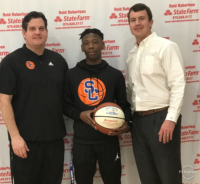Congrats to Dee Williams for being selected as State Farm Player Of The Week! Dee had 34 pts in our home game against Magnolia and Hit 9 threes. Dee also had 6 assist and 10 rebounds !! #FASTER