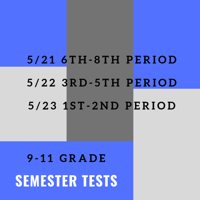 feacaaa4e4bfb5 9-11 Test Schedule