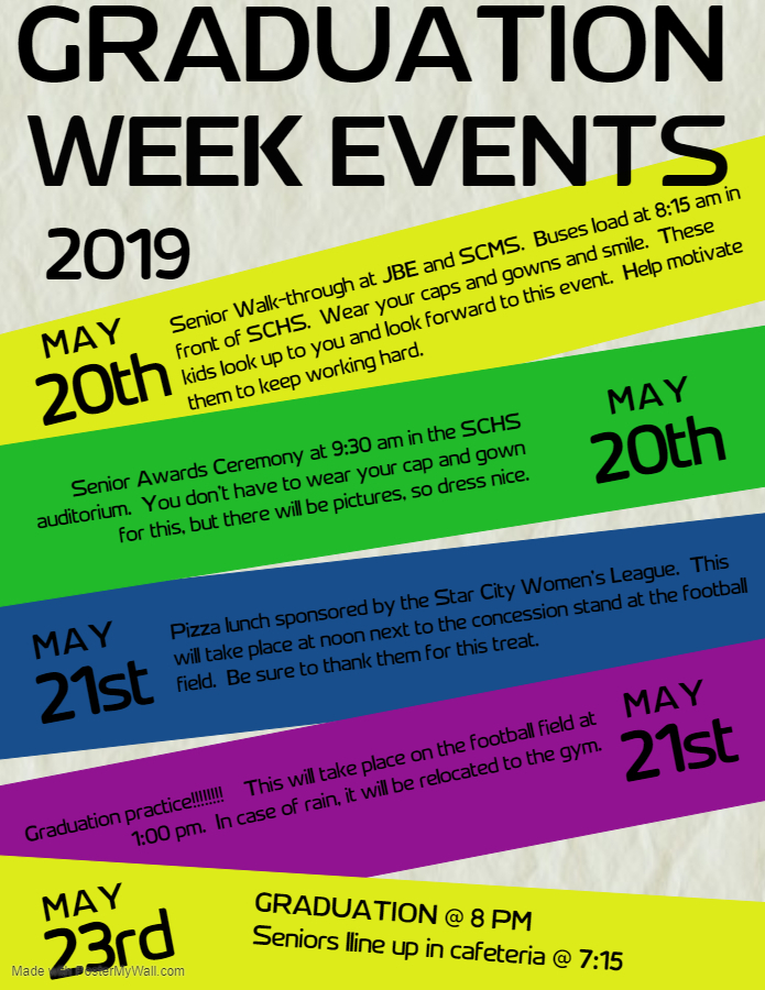 Graduation Week Events