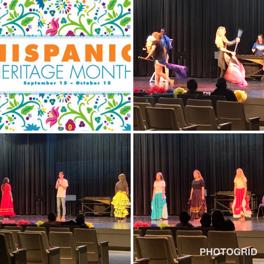 Hispanic Heritage Celebration was a huge success! Great job to our Spanish Club and Spanish classes that participated in the performance!