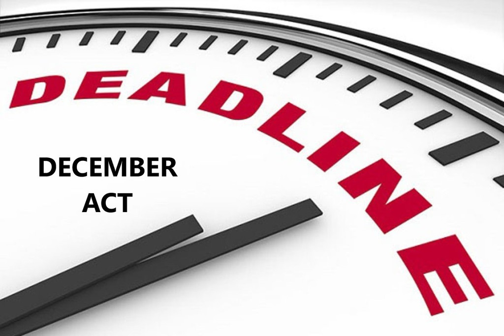 December ACT Deadline