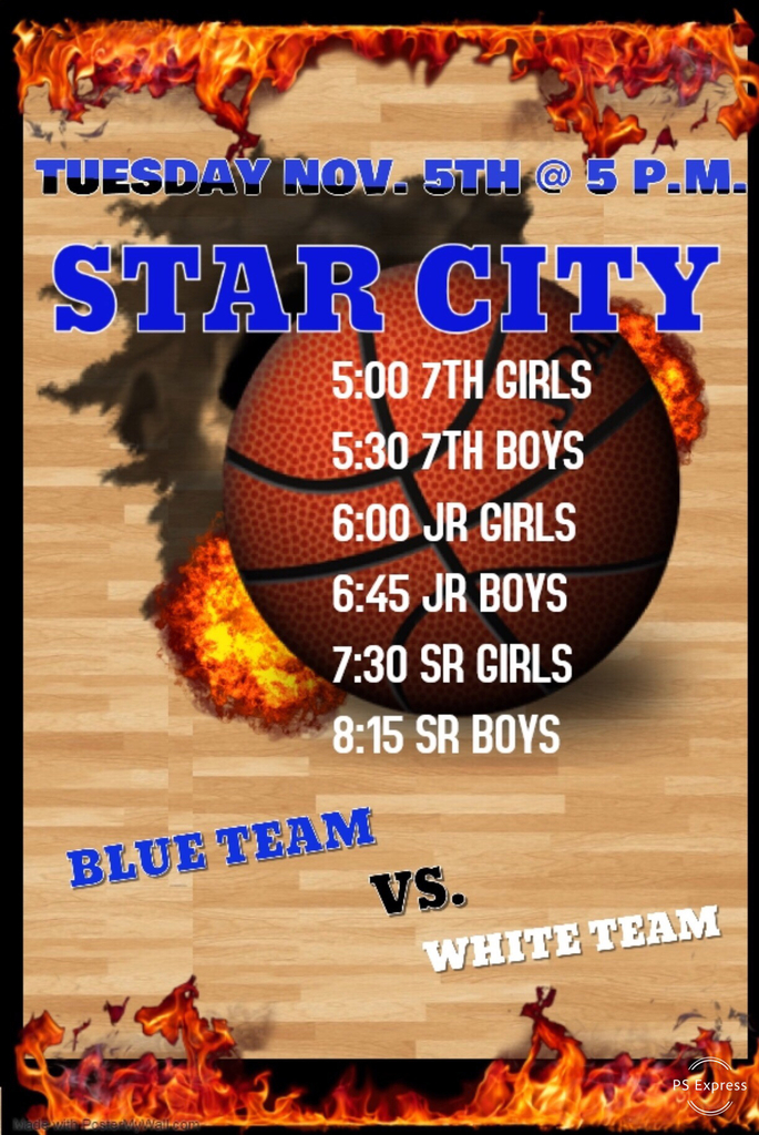 Please come out and support boys and girls basketball at our annual blue vs. white game!