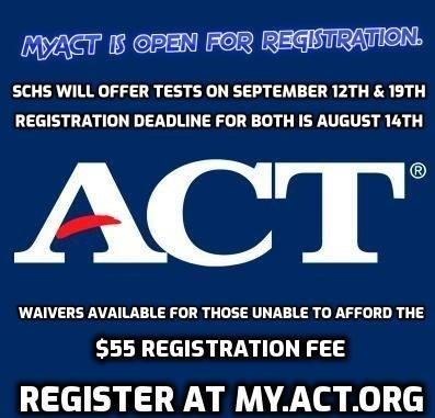 ACT registration open